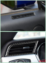 DynaCarbon™️ 2 PCS Carbon Fiber Side AC Outlet Trim Overlay for Ford Mustang 2015-2019