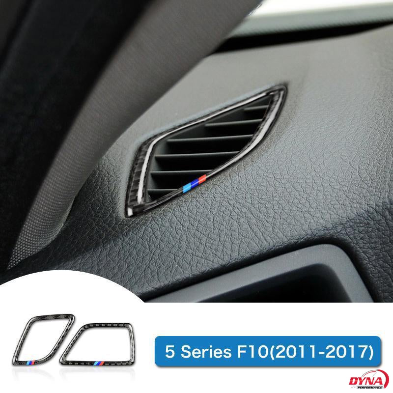 DynaCarbon™️ 2PCS Carbon Fiber LHD Air Conditioning Vent Trim Overlay for BMW F10 5 Series
