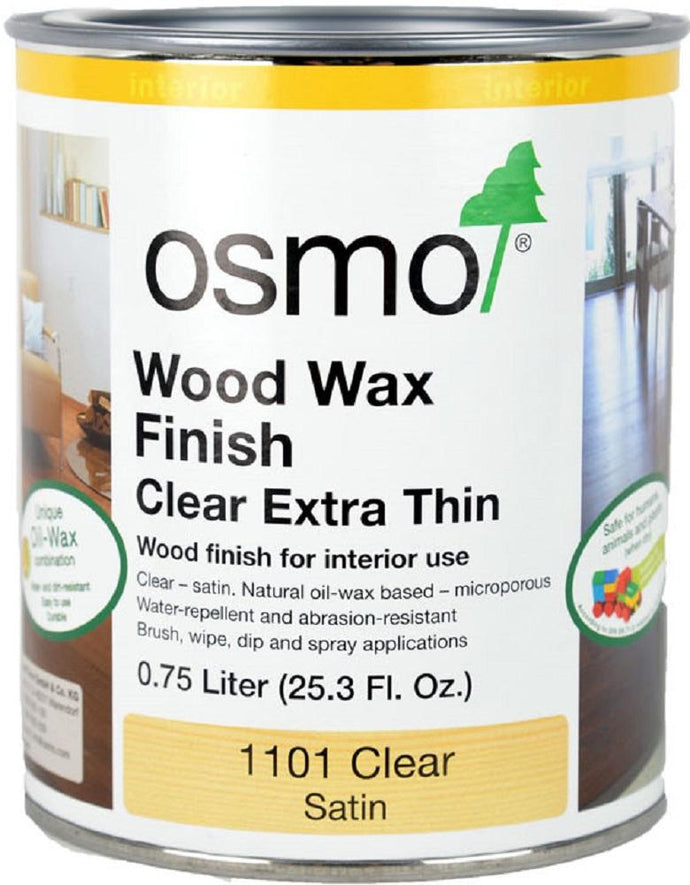Osmo Wood Wax Finish 1101 Clear Extra Thin