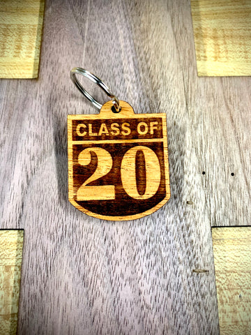 Wooden Key Chain- Class of 2020
