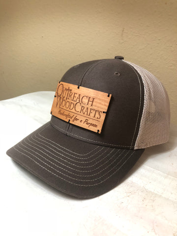 Wood Patch Hat- Outreach WoodCrafts