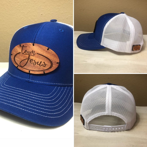 Wood Patch Hat- Team Jesus