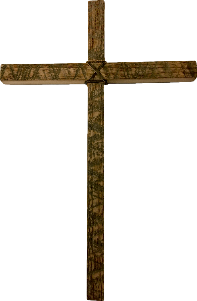Rustic Heartpine Cross