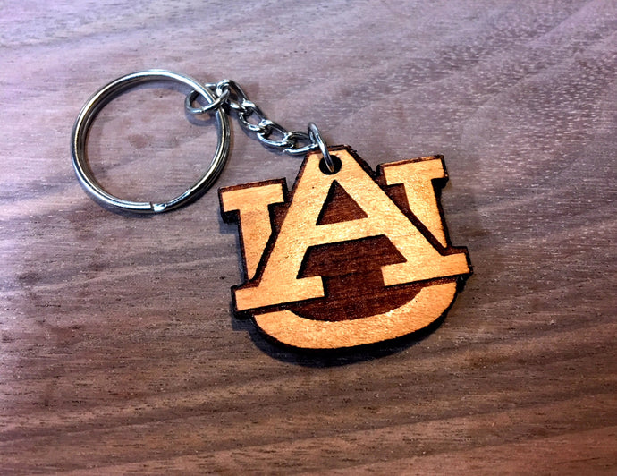 Wooden Key Chain- Collegiate