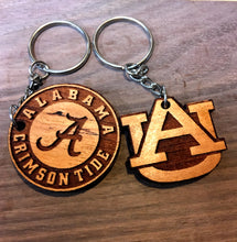"Wooden Key Chain- Collegiate ""Auburn"""