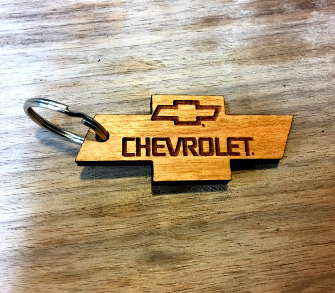 Wooden Key Chain- Chevrolet Bowtie