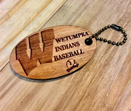 Wooden Key Chain- Wetumpka Indians Sports