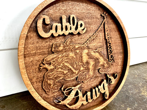 Cable Dawg Carved Sign- 10""