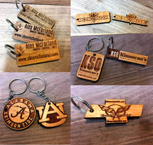 Wooden Key Chain- Nissan Emblem
