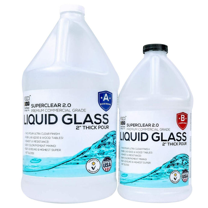 Liquid Glass Deep Pour Epoxy 1.5 Gal