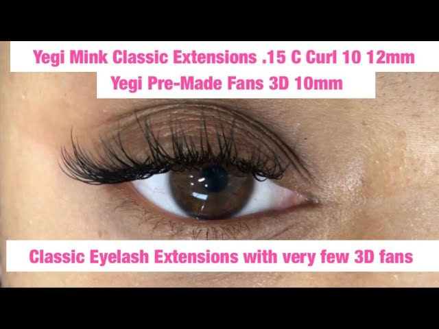 Eyelash Extensions Tutorial Classic With Very Few 3D Fans (Video)