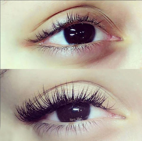 Eyelash Extension Before vs After by Yegi Beauty