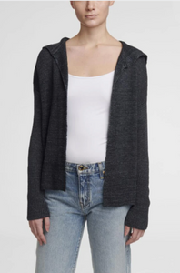 Hooded open cardigan