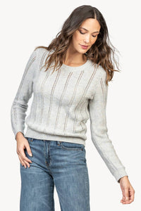 Pointelle stitch sweater
