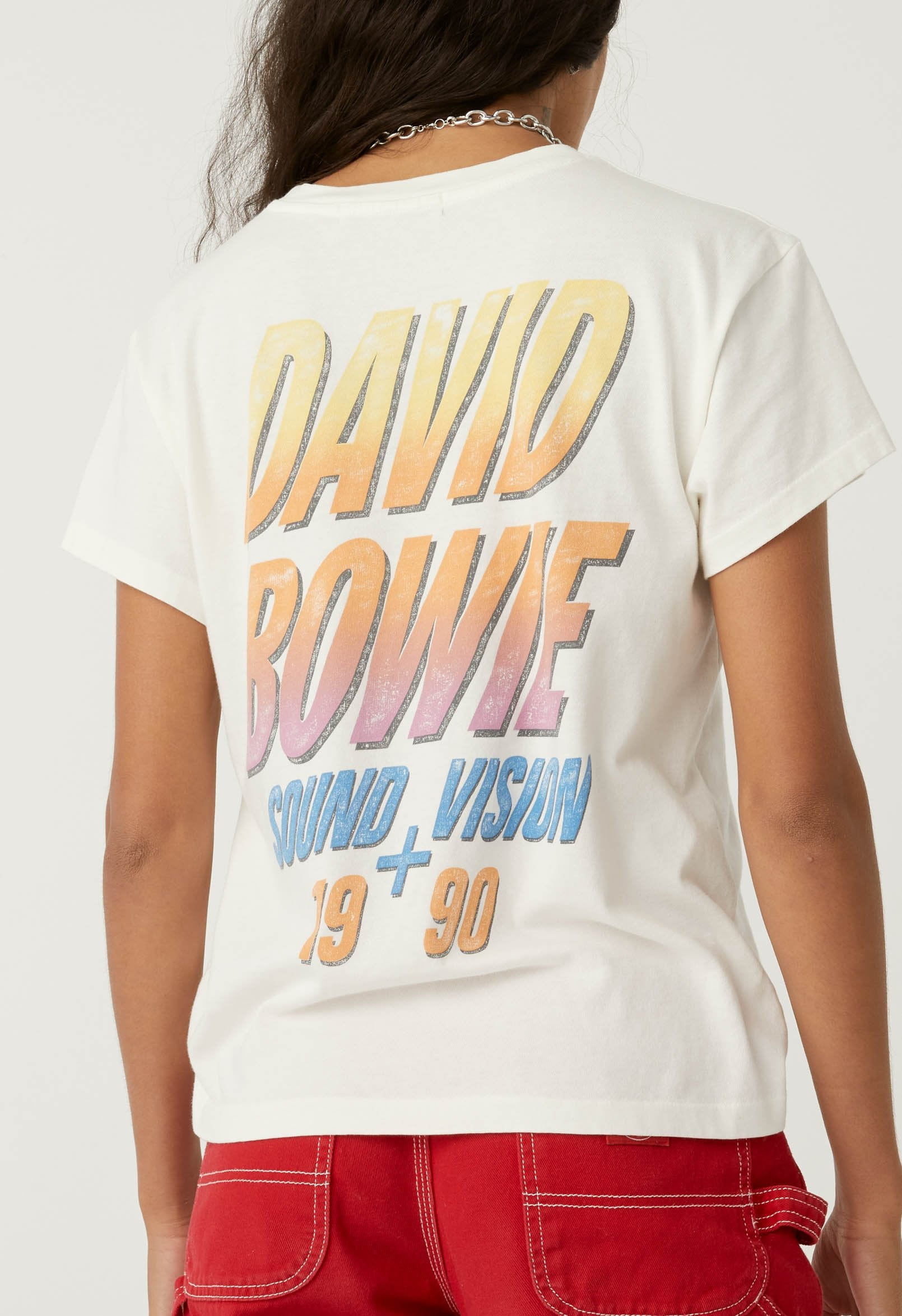 David Bowie Sound and Vision tour tee - vintage white