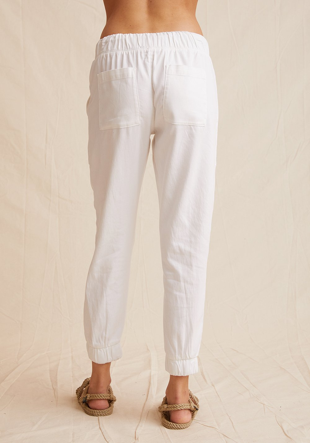 Pocket jogger without rips - white