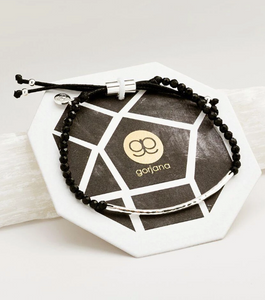 Power gemstone bracelet - black onyx