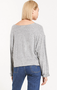 Alpine marled pullover - heather grey