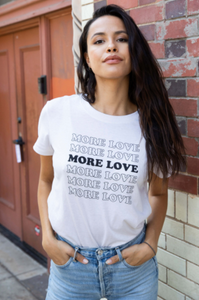 More love loose tee - antique white