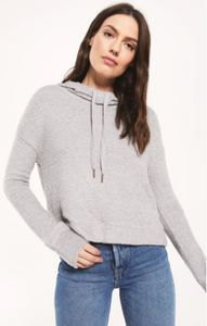 Kacey feather hoodie - heather grey