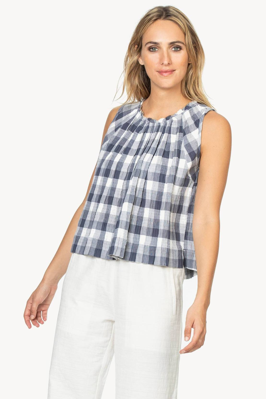 Shirred neck tank (PA1045)