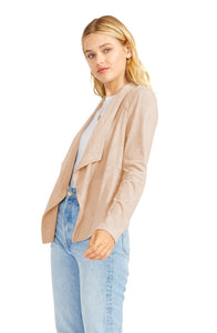 Suede it out jacket - tan
