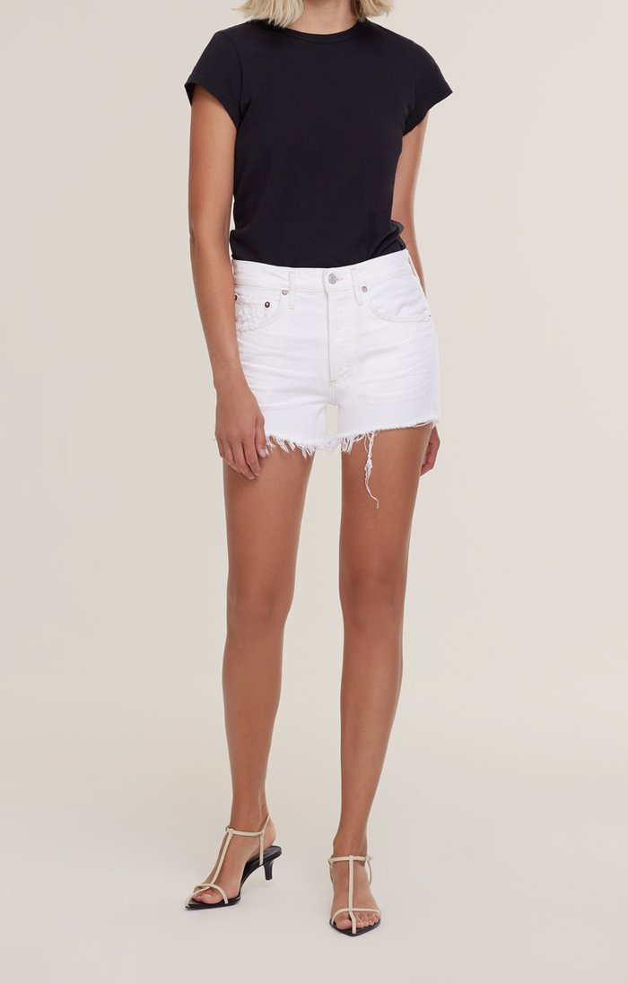 Parker vintage cut-off shorts - platinum (white)