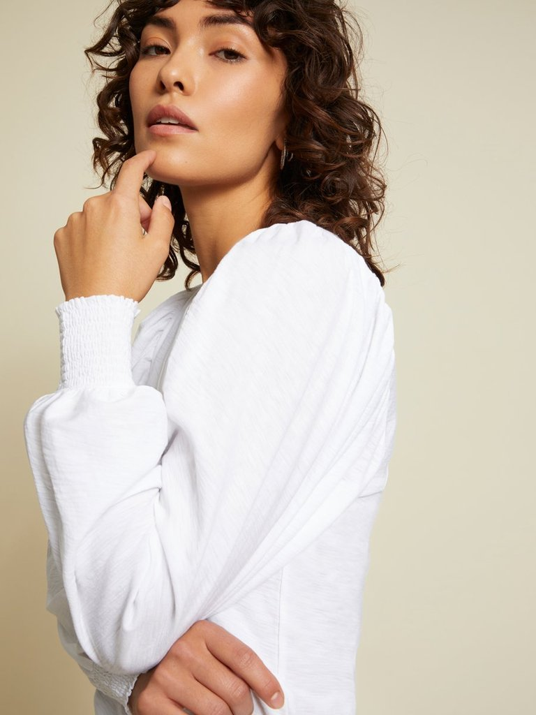 Tabitha full sleeve top - white