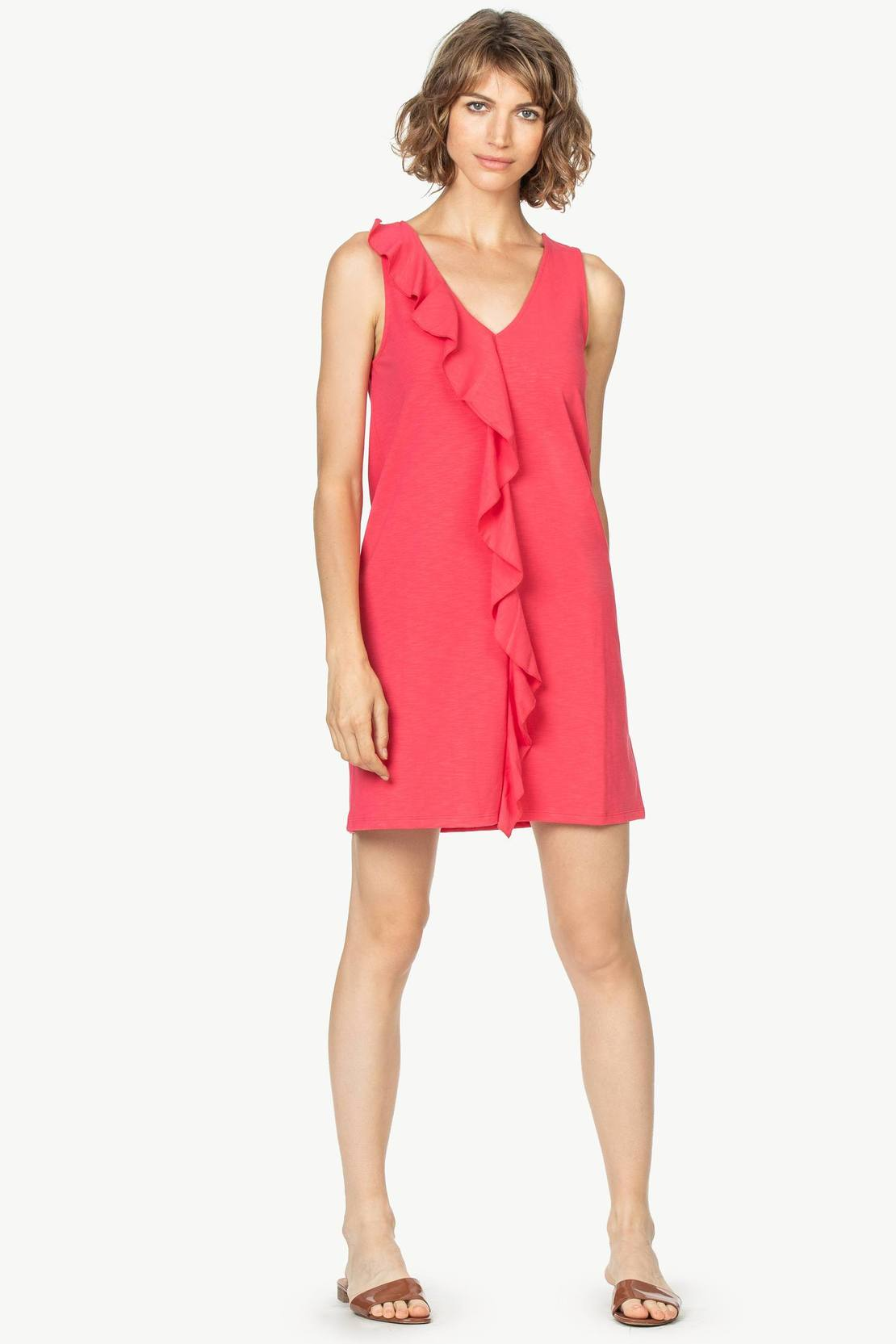 Ruffle front shift dress (PA1011)