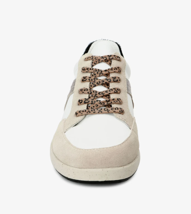 Music sneakers - white leather / bone