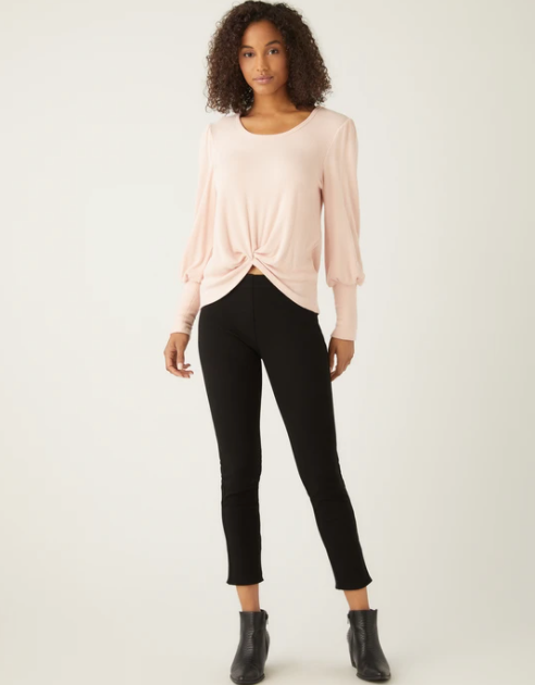 Twist front top - rose