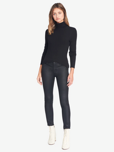 Essential turtleneck top - black