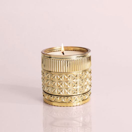 Gilded muse faceted jar