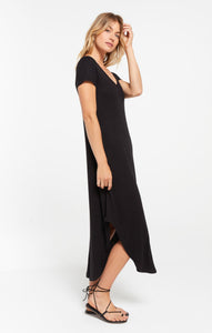 Reverie rib dress - black