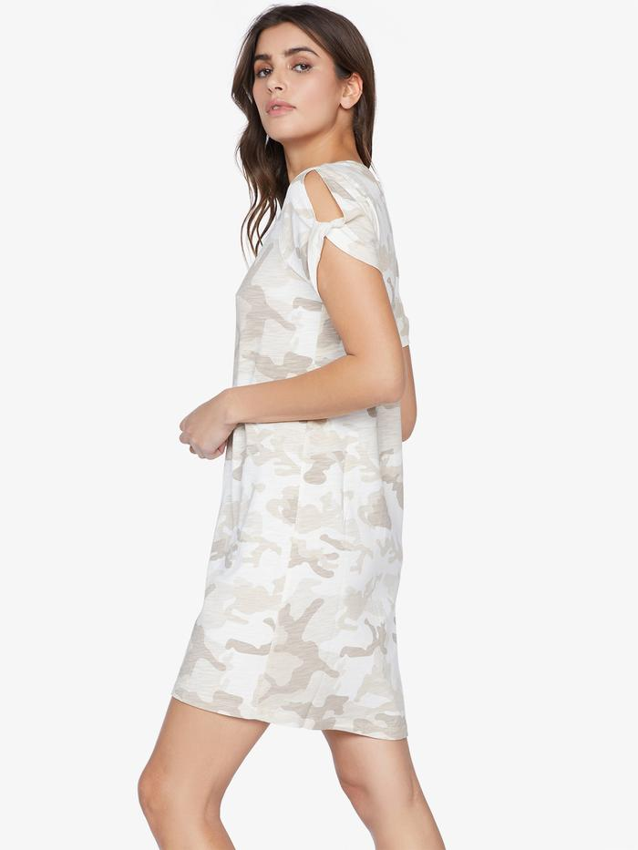 So twisted t-shirt dress - sand dune camo