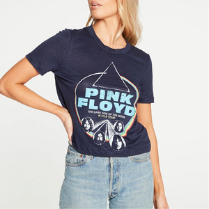 Cropped short sleeve easy tee (pink floyd) - avalon