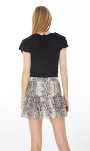 Carrie ruffle top -  black
