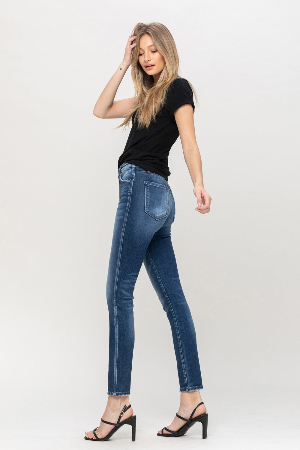 Y3899 - High rise ankle skinny jeans