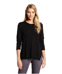 Asymmetrical slouchy tunic (033042) - black