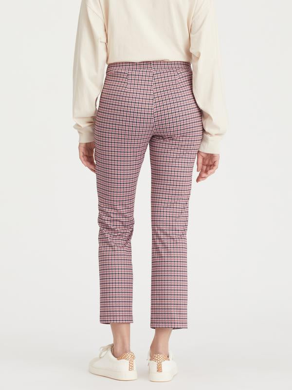 Carnaby kick crop pant - destin plaid