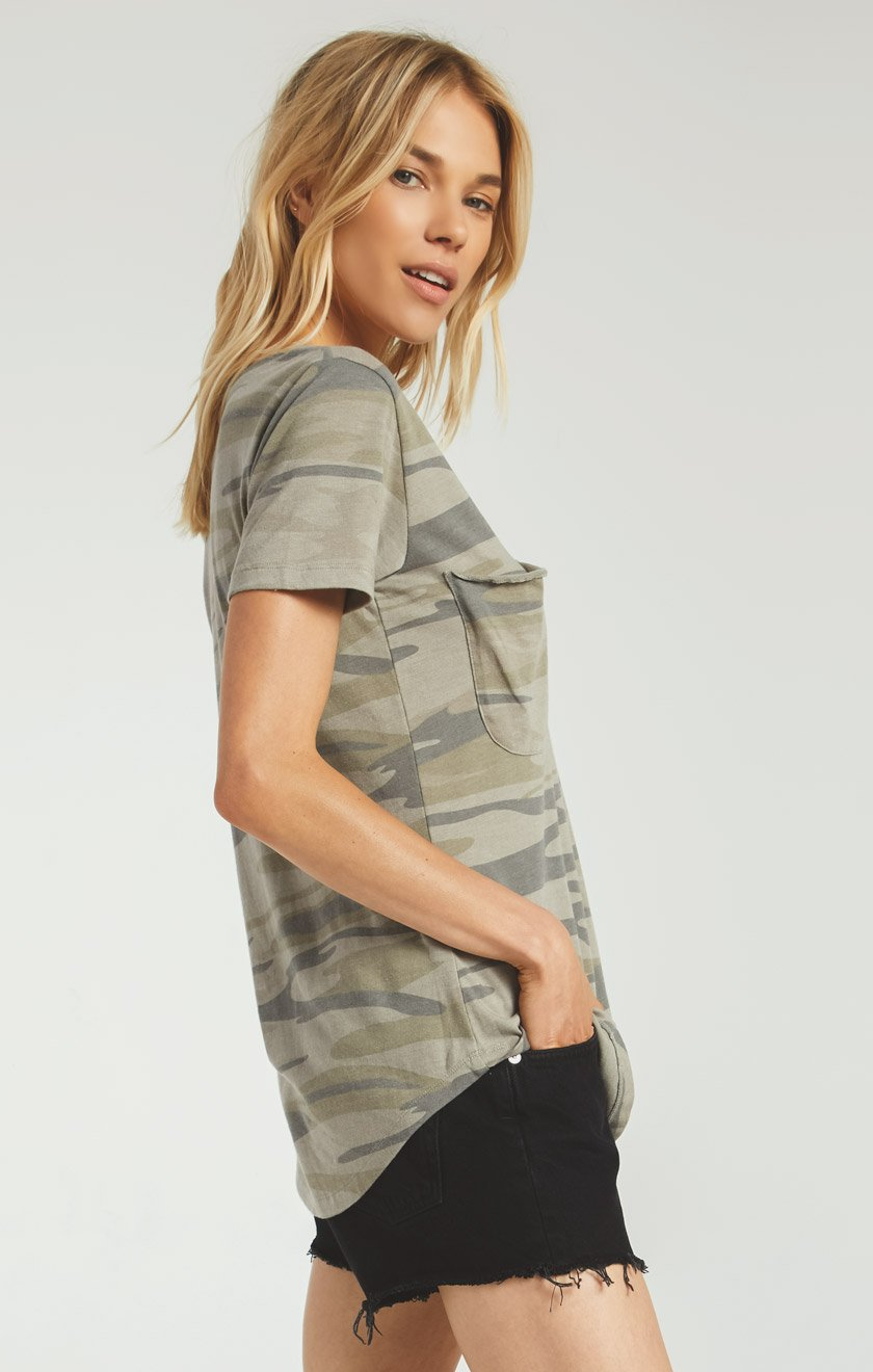 The camo pocket tee - camo light sage