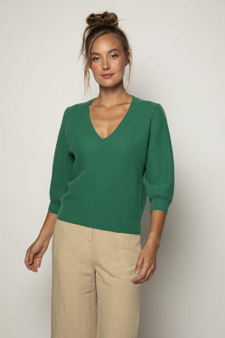Nella puff sleeve sweater - bottle