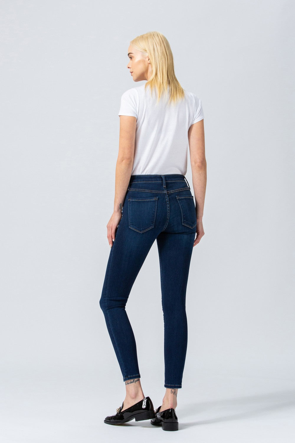 G1009 - Mid rise xtra lycra super soft ankle skinny jeans
