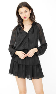 Sydney stripe dress - black/silver