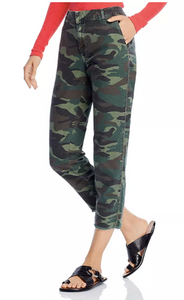 Side stud camo trouser