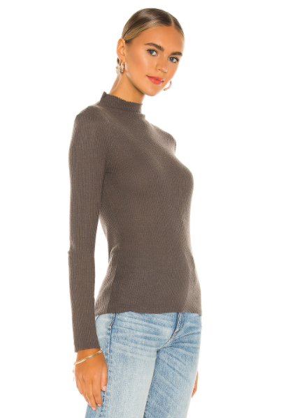 Aime turtleneck sweater tee - sparrow