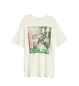 The Clash London Calling weekend tee - vintage white