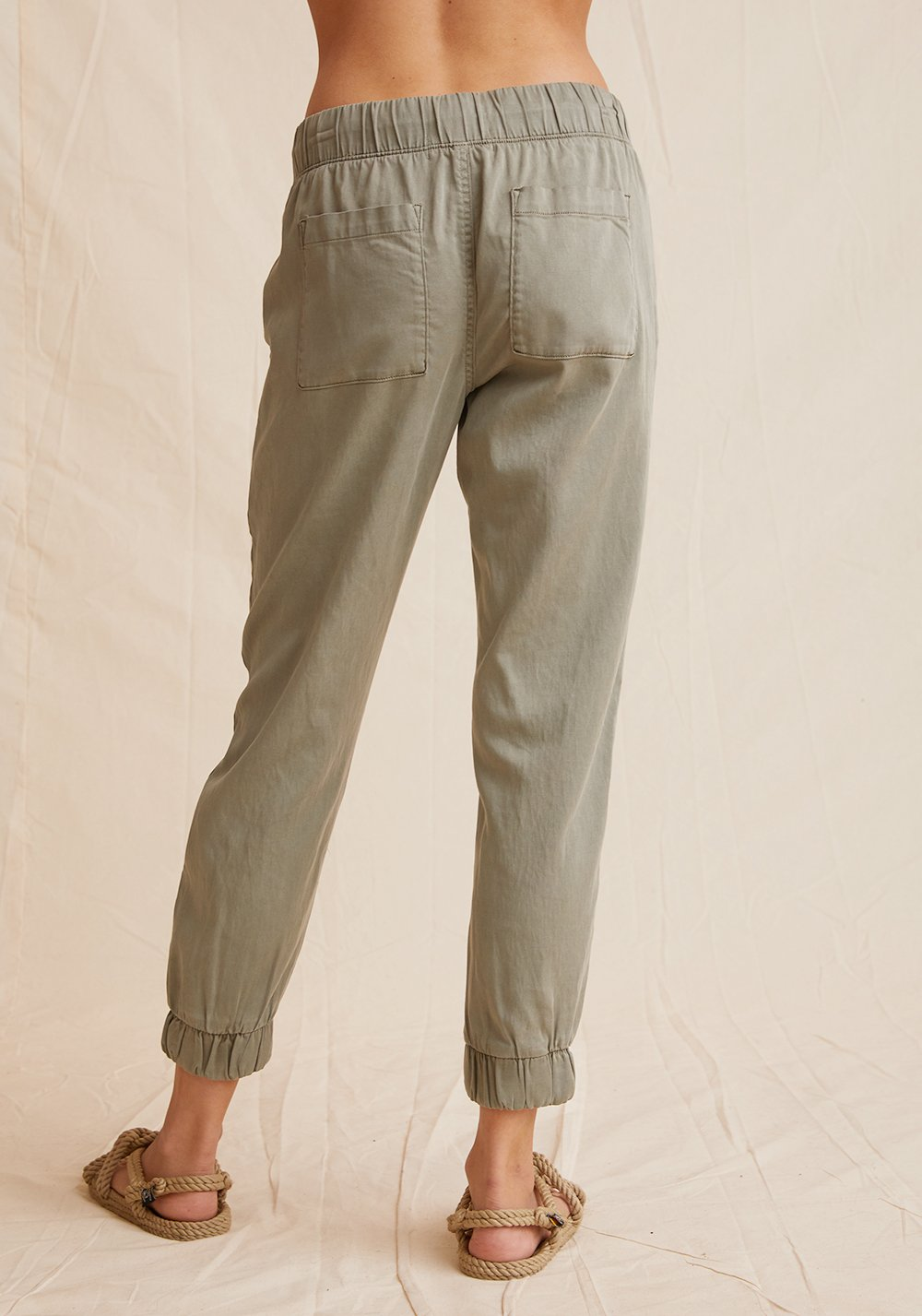 Pocket jogger without rips - soft army