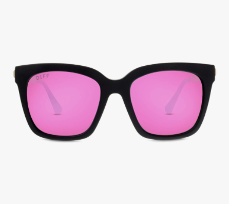 Bella - matte black + pink mirror + polarized