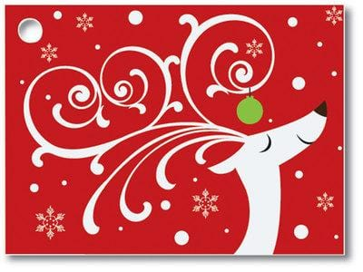 Dashing Reindeer Popcorn Gift Card
